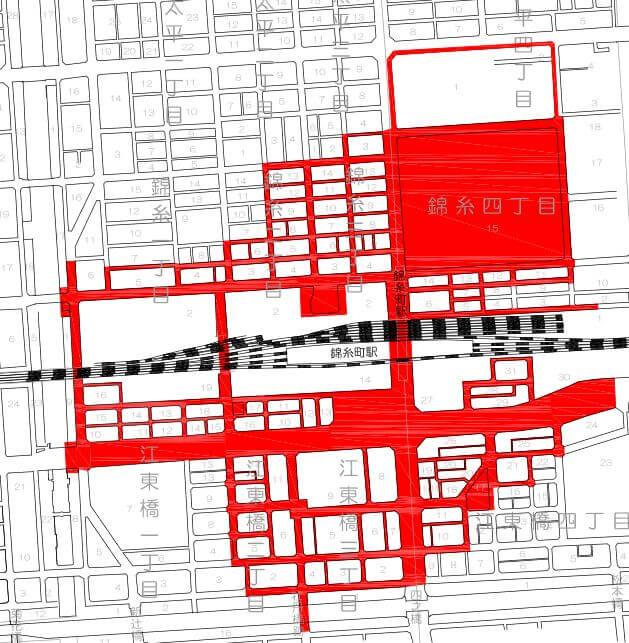 錦糸町駅の放置禁止区域