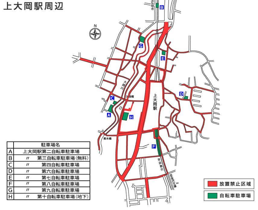 上大岡駅の放置禁止区域