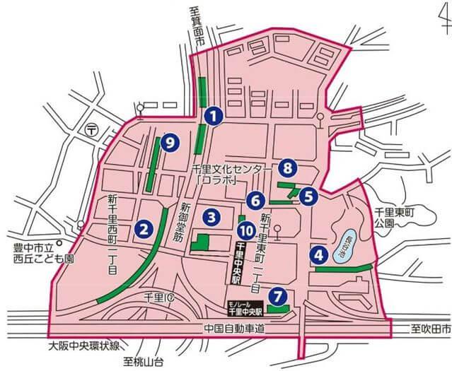 千里中央駅の放置禁止区域