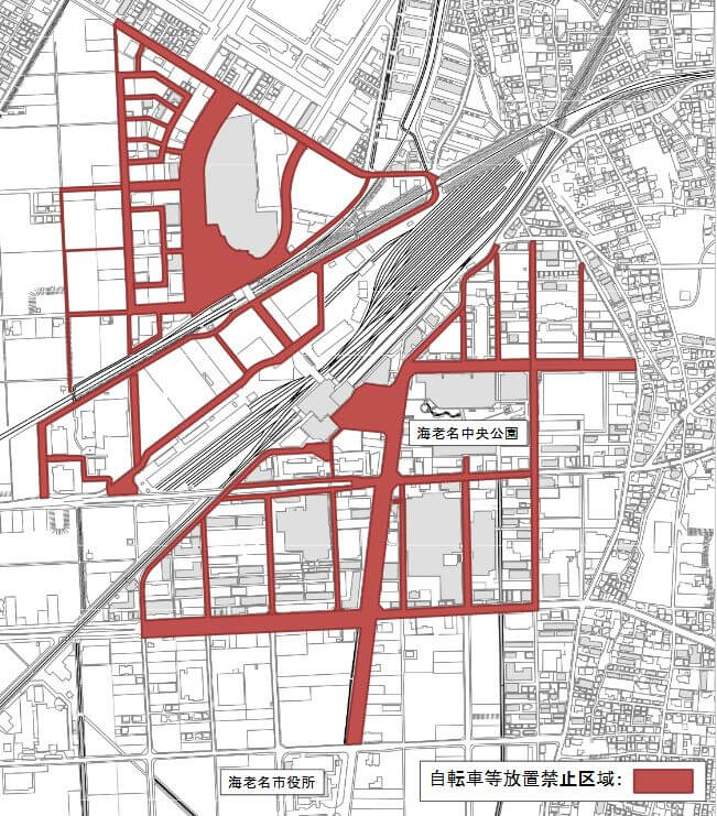 海老名駅の放置禁止区域