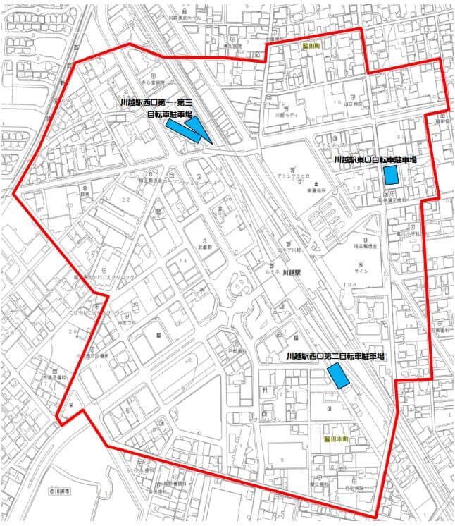 川越駅の放置禁止区域