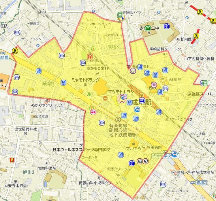 成増駅の放置禁止区域