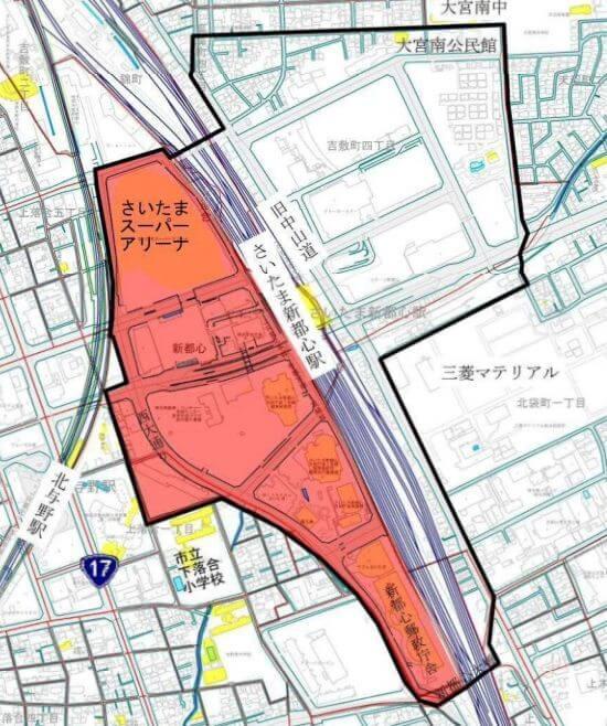 さいたま新都心の放置禁止区域