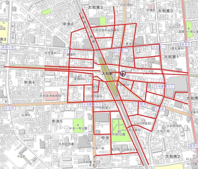 大和駅の放置禁止区域
