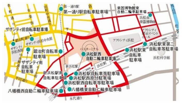 浜松駅の放置禁止区域