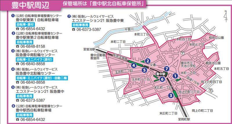 豊中駅の放置禁止区域